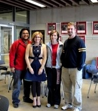 From left: Prabuddha Lohani, Mattie Bookhout, Liz McCallion, and Cameron Ramoly