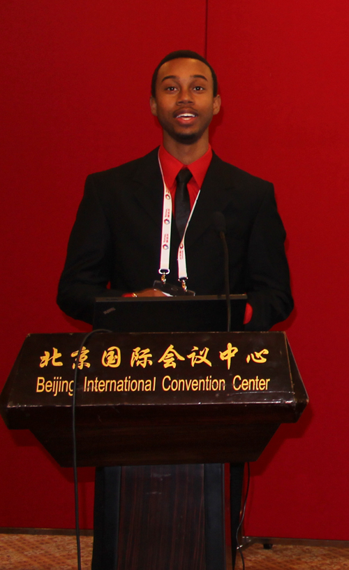 Keiron Durant making a presentation at the International Petroleum Technology Conference
