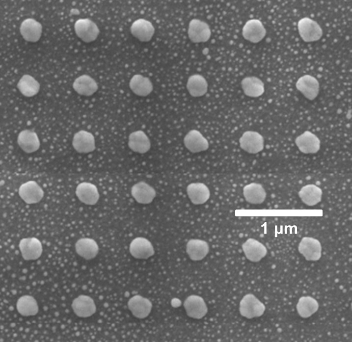 Nanoparticle arrays like this one can be used to create sensors for nuclear facilities and healthcare providers.