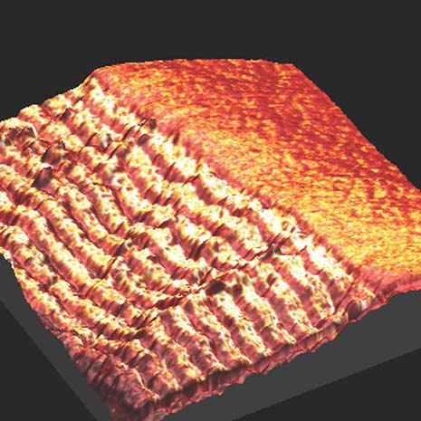 Cross-sectional image of the multilayer structure on nanoscale