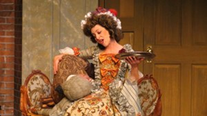 "Jason M. Shipman and Stephanie Faatz Murry in ""She Stoops to Conquer."""