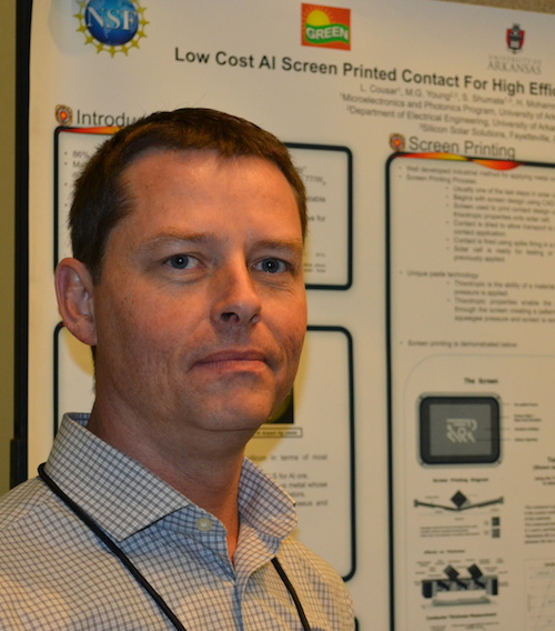 Larry Cousar communicating about aluminum usage in n-type solar cell contacts.