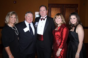 Kevin Brown (center) with friends Regina and John Goodwin, wife Marie Brown and daughter Sydney Brown-Chua at the 2011 College of Engineering Alumni Awards.