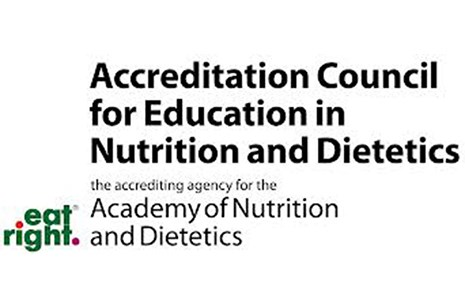The Academy of Nutrition and Dietetics has reaccredited the Bumpers College's program in dietetics.