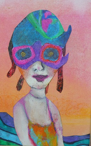 """Meggie at the Beach"" by Kathy Attwood of Eureka Springs. (Arkansas Arts Council, used with permission.)"