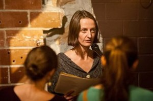 Anne Greeott at a reading of her work (photo by Brandon Otto)