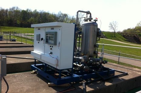 BlueInGreen's CDOX unit at a water treatment facility.
