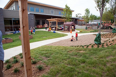 Children at play at the Jean Tyson Child Development Study Center.