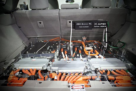 APEI's high-performance, silicon carbide-based plug-in hybrid electric vehicle battery charger.