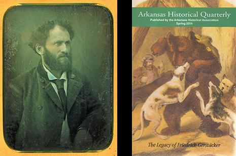 Friedrich Gerstäcker (left), Arkansas Historical Quarterly Spring 2014 right)
