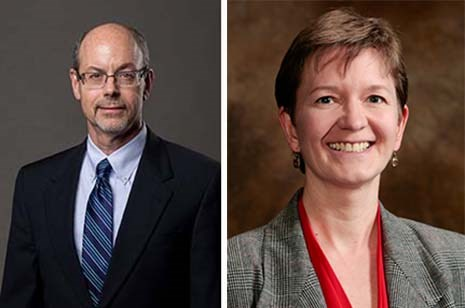 Donald R. Bobbitt, left, and Ingrid Fritsch have been named fellows of the National Academy of Inventors