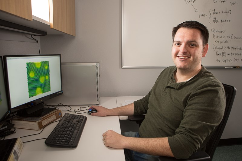 Joseph Carmack studies how to control nano-sized particles and use them to develop more sophisticated materials.