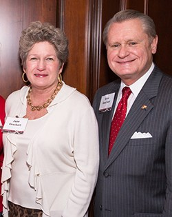 David and Jane Gearhart made a surprise announcement to committee of volunteers on April 10.