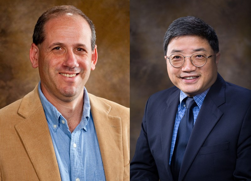 Peter Ungar, Distinguished Professor and chair of the Department of Anthropology, and Ryan Tian, professor of chemistry