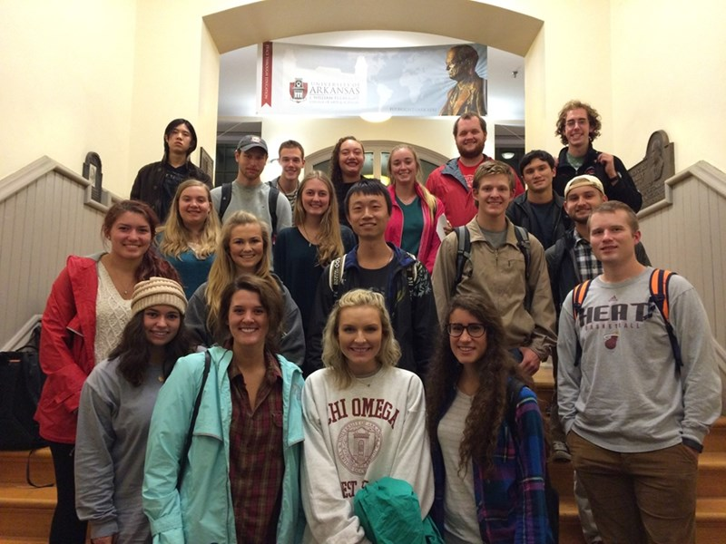 The spring 2016 exchange student group.