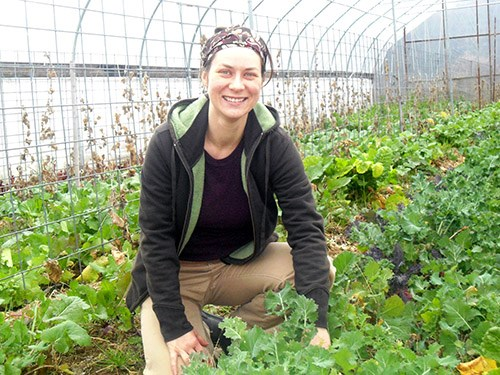"Claire Luchkina volunteered recently at a farm in Washington County. A research paper she wrote about online permaculture resources has been published in the spring edition of the undergraduate research journal ""Inquiry,"" which is available online starting this week."