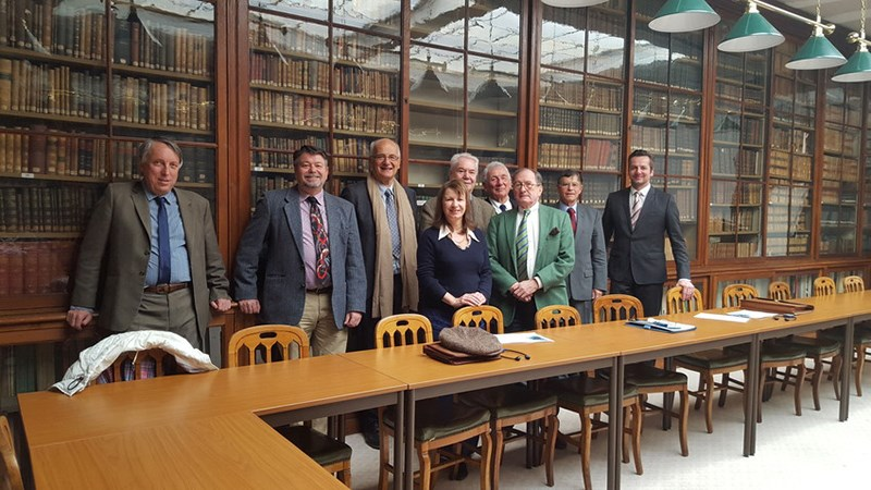 Marty Matlock, professor of biological and agricultural engineering, meets with France's National Academy of Agriculture to discuss the science of sustainable agriculture.