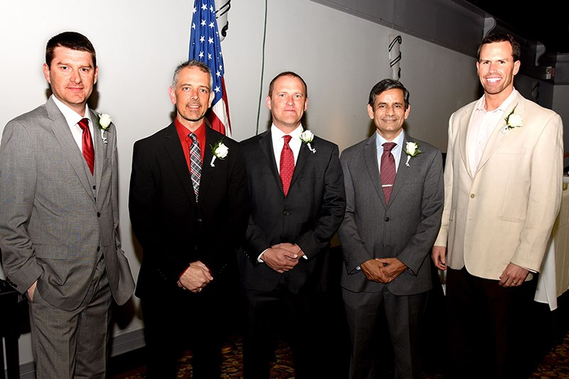 From left to right: Chris Pixley, Anthony Doss, Ray Avery, Indrajeet Chaubey, Drake McGruder.