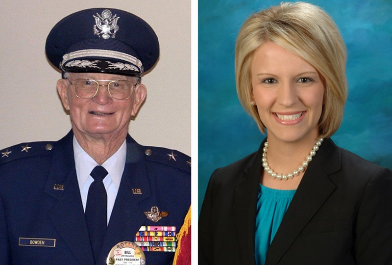 Retired U.S. Air Force Maj. Gen. William Bowden and Kerri Boling