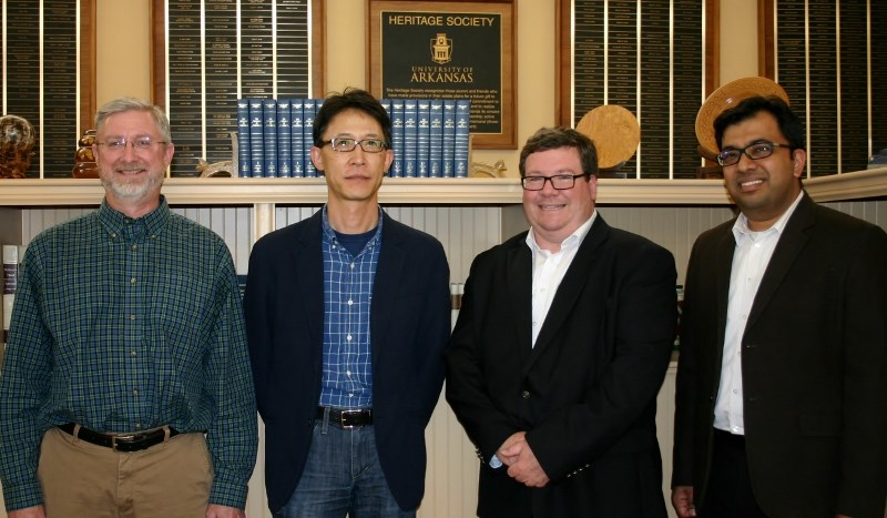 Alan Mantooth, Jin-Woo Kim, Dale Thompson and Kartik Balachandran were honored at the College of Engineering Faculty Awards event.