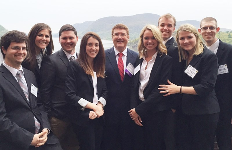 Award-winning industrial engineering senior design teams with Greg Parnell at West Point.