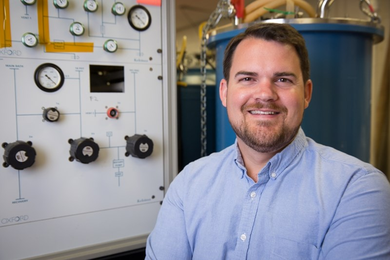 Hugh Churchill, assistant professor of physics, directs the Quantum Device Laboratory at the University of Arkansas.