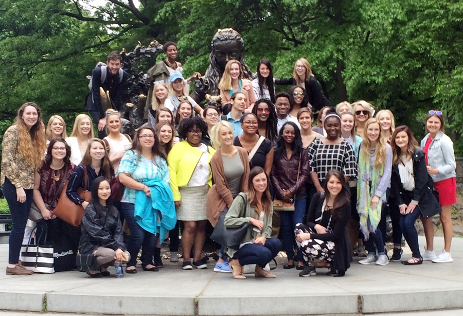 Forty Apparel Merchandising And Product Development Students From The Pers College Traveled To New York City