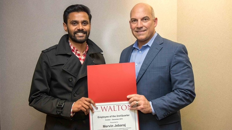 Mervin Jebaraj and Dean Matt Waller