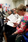 Master Chorale members in rehearsal.