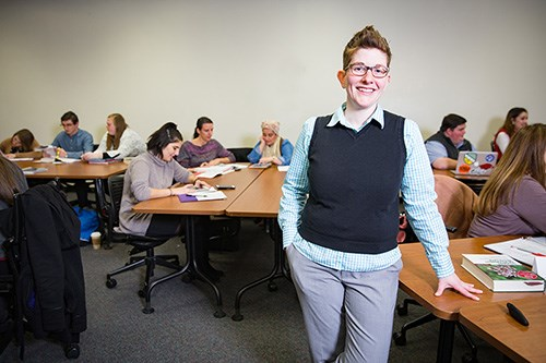LJ Shelton, clinical assistant professor of higher education, teaches in and coordinates the higher education master's program at the U of A.