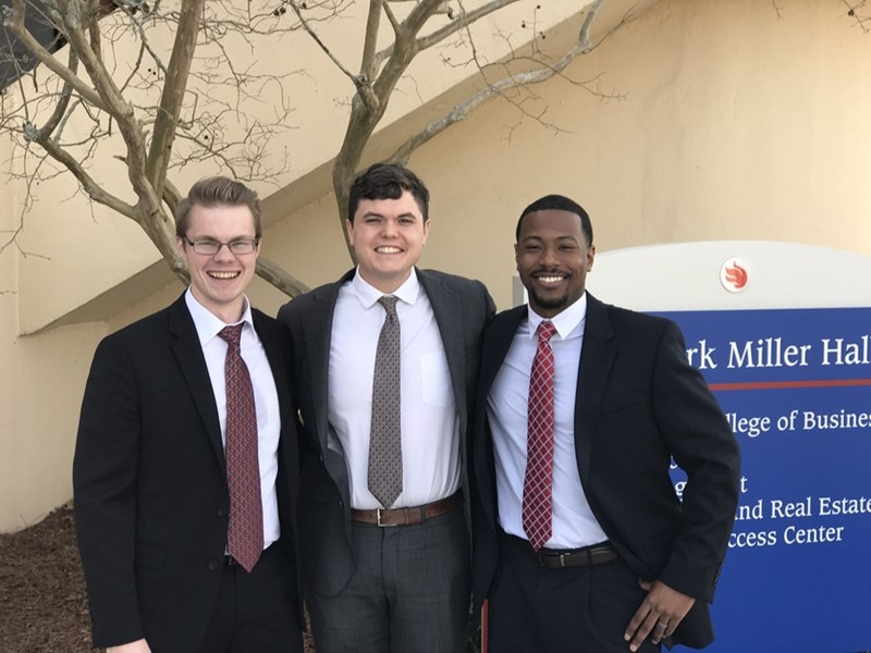 Surface Mod team members (l-r)Tyler Spain, Nathan Watson, and Cortes Williams .