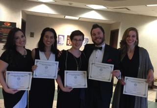 2017 NATS Winners: (from left to right) Ismaelena Serrano, Hannah Rodriguez, Cheri Headrick, Chris Senty, Laura Frederickson.