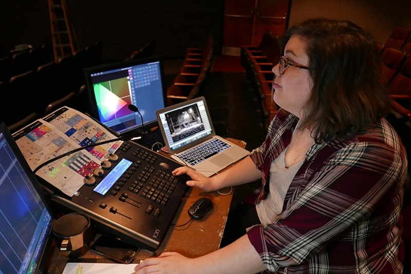 Emily Clarkson, M.F.A. candidate in theatre lighting design.