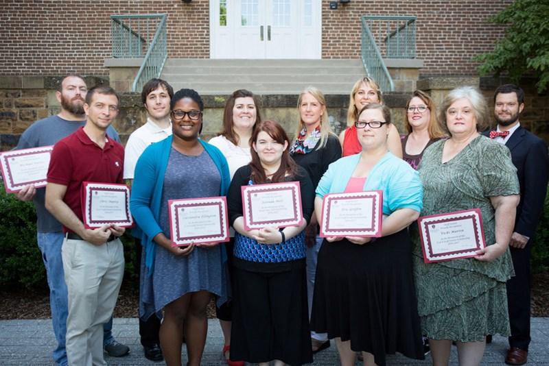 2016 Staff Senate Scholarship winners.