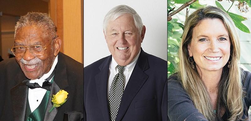 l-r: Judge L. Clifford Davis, William T. Dillard II, Becca Stevens