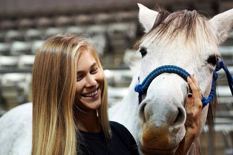 The Equine Assisted Activities and Therapies class (ANSC 410V) has attracted students from various disciplines across campus.