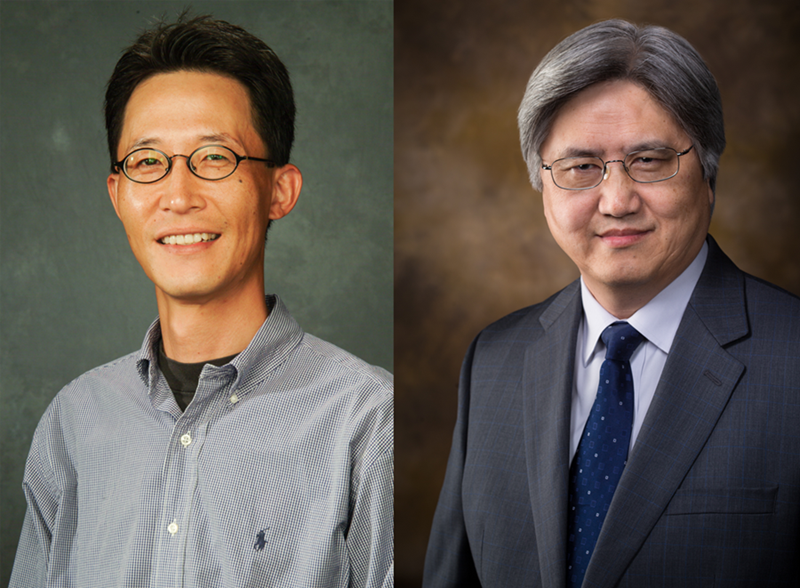 Jin-Woo Kim (left) and Yanbin Li (right) have been named fellows of the American Institute for Medical and Biological Engineering