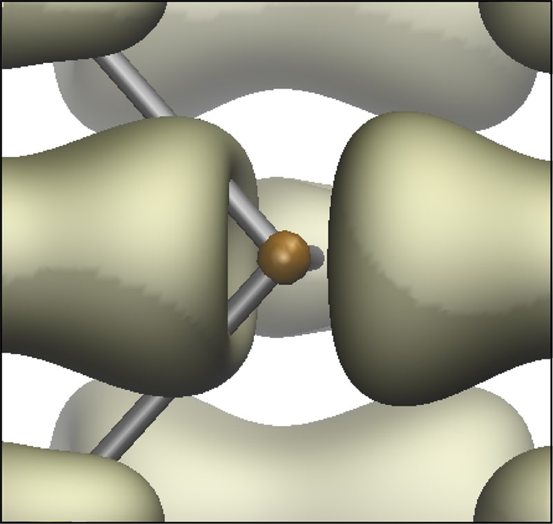 The electronic cloud of an excited electronic state screens an in-plane electric dipole. The 2D material contracts uniaxially in response, producing an effect known as photostriction.