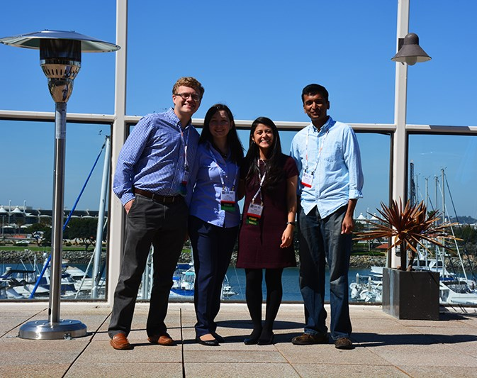 Mason Harper, Daria Semeniak, Paola Monterroso Diaz, and assistant professor Narasimhan Rajaram.