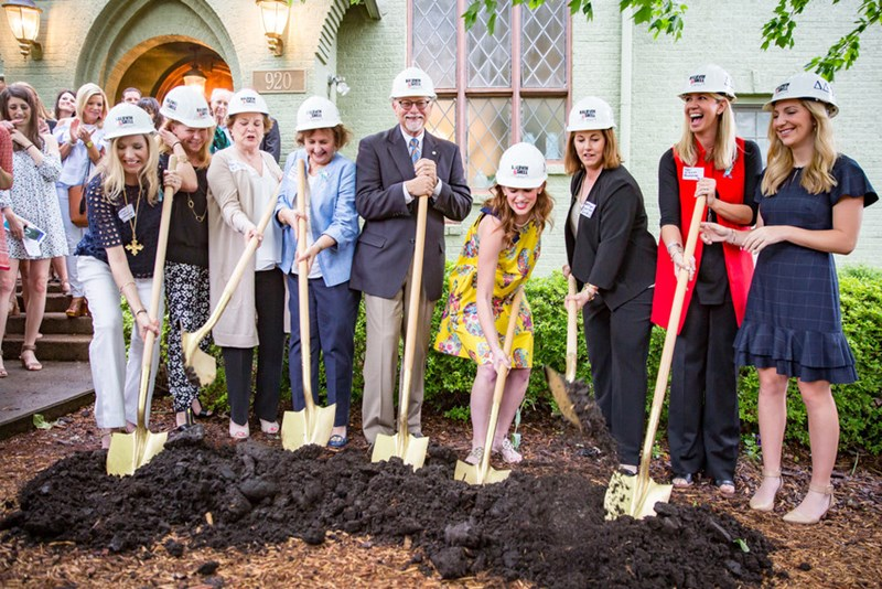 The groundbreaking for the renovation and expansion of the Tri Delta house took place on April 29