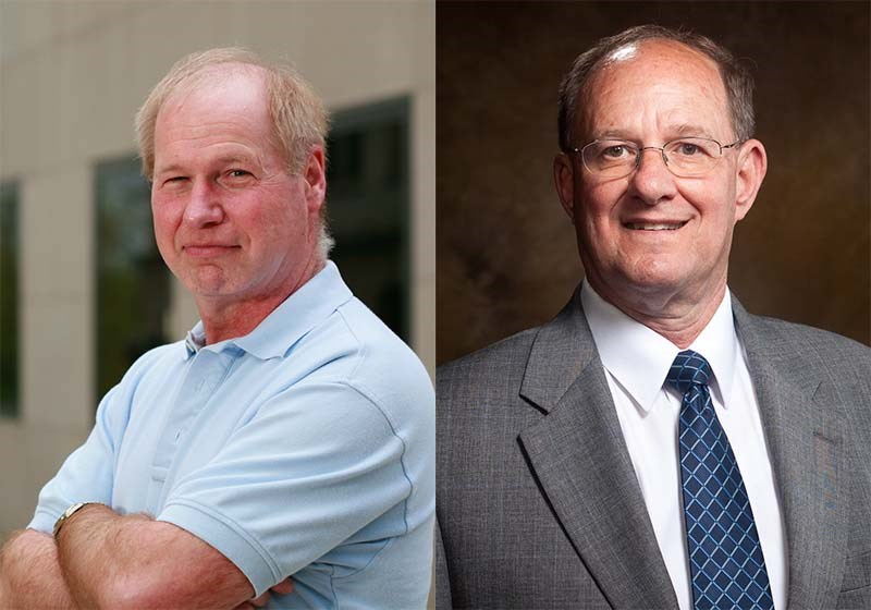 Ed Clausen and Norman Dennis were recognized at the annual ASEE conference.
