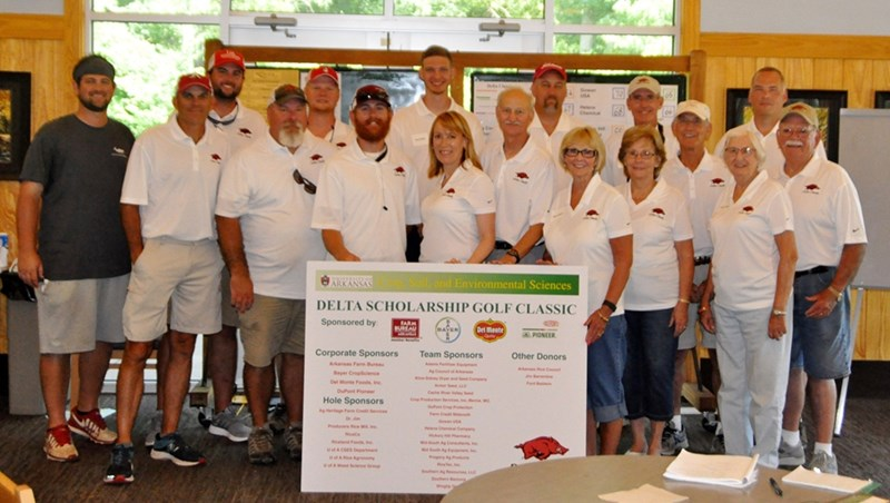Alumni and friends of Bumpers College's Department of Crop, Soil, and Environmental Sciences helped raise more than $22,800 for scholarships at this year's Annual Delta Scholarship Golf Classic.