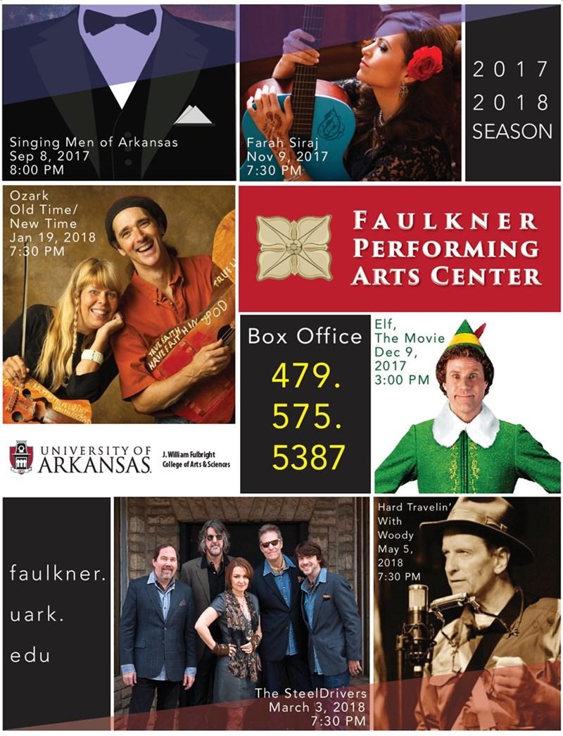 Faulkner Performing Arts Center 2017-18 Season Poster