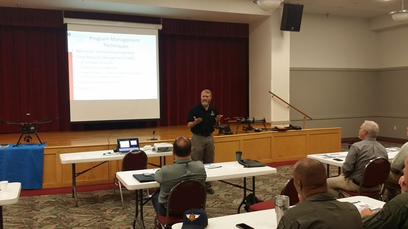 Jack Cothren, director of the Center for Advanced Spatial Technology, and Richard Ham, associate director of the M.S. in Engineering and Operations Management, spoke recently with Arkansas agencies about drones.