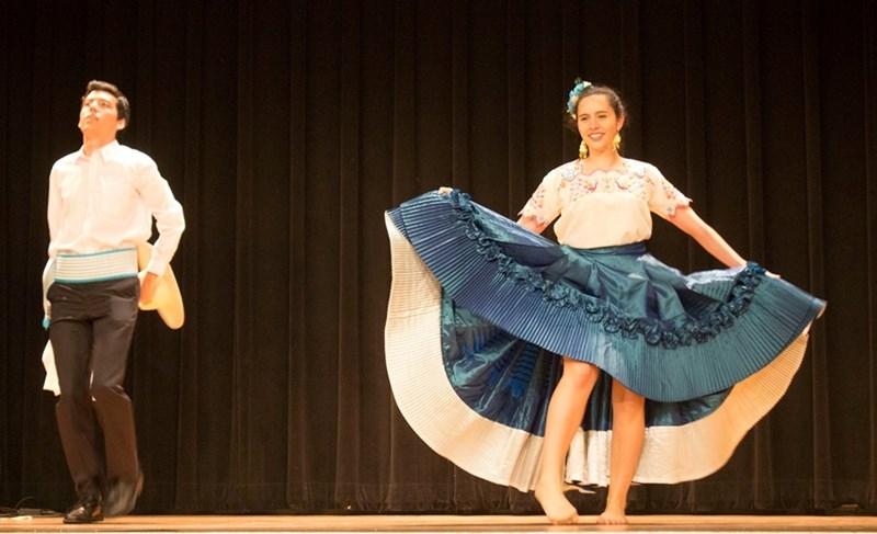 Dancing the Marinera from Peru.