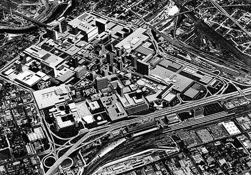 The Gruen Plan for 'A Greater Fort Worth Tomorrow' was designed by the architecture firm Victor Gruen and Associates in 1956 to revitalize the business district, and alleviate traffic congestion in downtown Fort Worth.