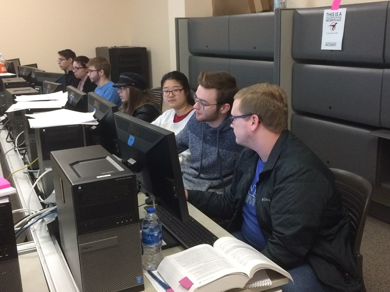 Members of the Cyber Hogs team have earned a ticket to the Southwest Regional Collegiate Cyber Defense Competition finals in Tulsa March 22-24.