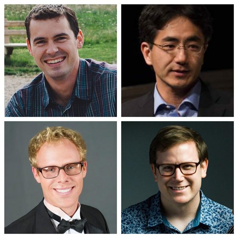 """En el sentido de las agujas del reloj desde la parte superior izquierda están Jeremy Allen, Susumu Watanabe, Tim MacDuff y Jesse Collett. """"Width ="""" 100% """"/> </a></p><div class="""