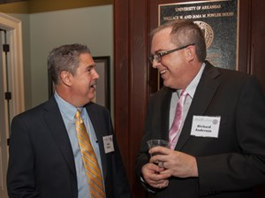 John Berry and Richard Anderson at the October Chancellor's Society event.