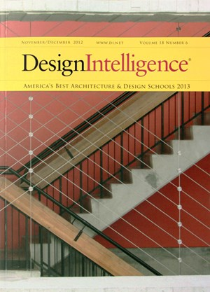 "The Fay Jones School of Architecture is twice ranked No. 1 in a national survey of ""top brands"" in architectural education, according to a survey in the November/December 2012 issue of DesignIntelligence."